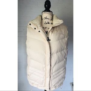 North Face 700 Ivory Cream Down Vest NWOT perfect!